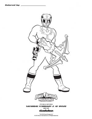 Power Rangers Megaforce Coloring Pages   50418