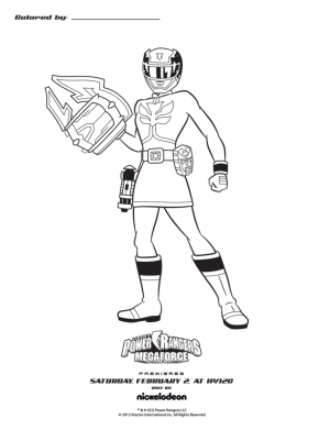 Power Rangers Megaforce Coloring Pages Free to Print   50531