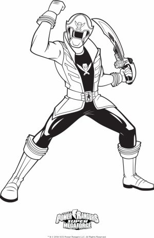 Power Rangers Megaforce Coloring Pages Printable   39671