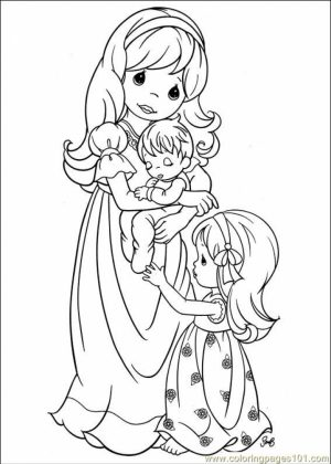 Precious Moments Boy and Girl Coloring Pages   6znr7