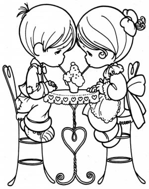 Precious Moments Boy and Girl Coloring Pages   74619
