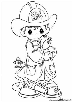 Precious Moments Boy Coloring Pages   85313