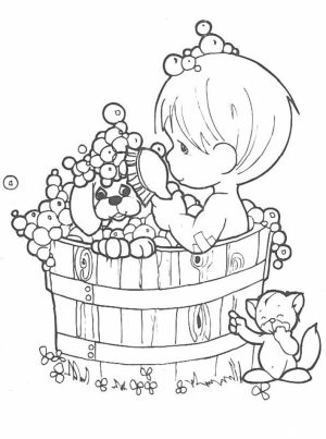 Precious Moments Coloring Pages for Kids   04518