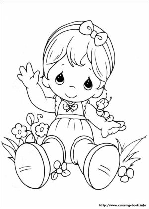 Precious Moments Coloring Pages for Kids   95003