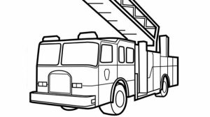 Preschool Fire Truck Coloring Page to Print   28189