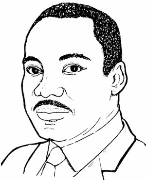 Preschool Martin Luther King Jr Coloring Pages to Print   nob6i