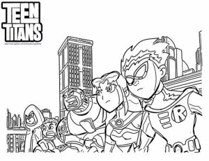 Preschool Printables of Teen Titans Coloring Pages Free   jIk30