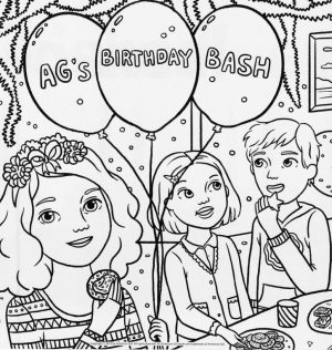 Printable American Girl Coloring Pages   9wchd