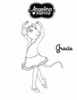 Printable Angelina Ballerina Coloring Pages Online   711866