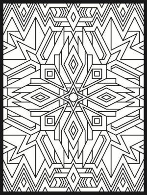 Printable Art Deco Patterns Coloring Pages for Adults   6543n04