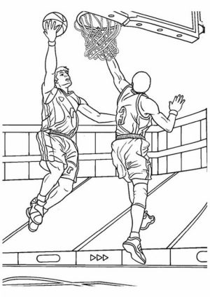 Printable Basketball Coloring Pages Online   184775