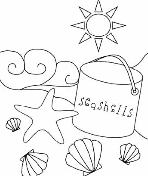 Printable Beach Coloring Pages   MM335