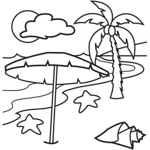 Printable Beach Coloring Pages Online   9MYA12