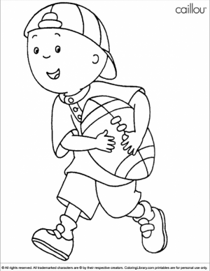 Printable Caillou Coloring Pages   7ao0b