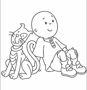 Printable Caillou Coloring Pages   9wchd