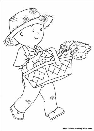 Printable Caillou Coloring Pages Online   4auxs