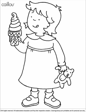 Printable Caillou Coloring Pages Online   vu6h32