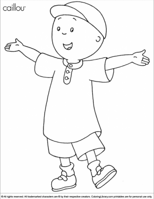 Printable Caillou Coloring Pages   yzost