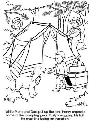 Printable Camping Coloring Pages   87141