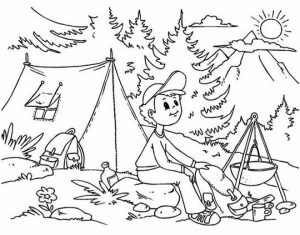 Printable Camping Coloring Pages Online   91060