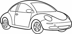 Printable Car Coloring Page   84618
