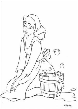 Printable Cinderella Disney Princess Coloring Pages for Girls   46176