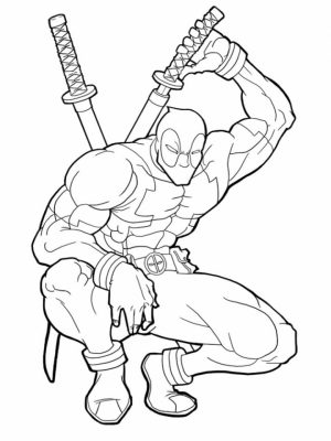 Printable Deadpool Coloring Pages Online   735296