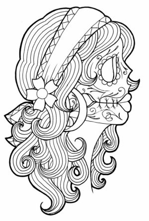 Printable Dia De Los Muertos Coloring Pages   dqfk15