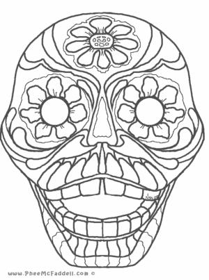 Printable Dia De Los Muertos Coloring Pages Online   2×535