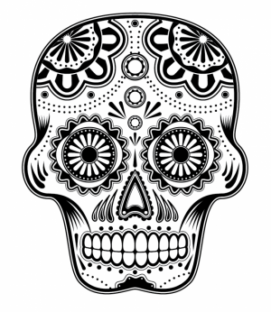 Printable Dia De Los Muertos Coloring Pages   yzost