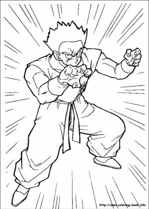 Printable Dragon Ball Z Coloring Pages Online   38854