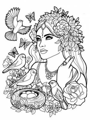Printable Elf Coloring Pages for Adults   9749