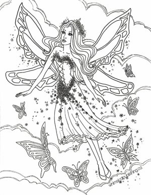 Printable Fairy Coloring Pages Online   72656