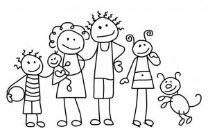 Printable Family Coloring Pages for Kids   5prtr
