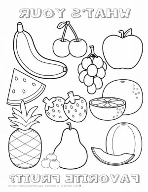 Printable Fruit Coloring Pages   96760
