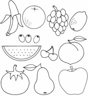 Printable Fruit Coloring Pages Online   55459