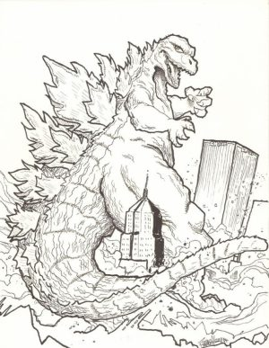 Printable Godzilla Coloring Pages for Kids   BKj66