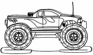 Printable Monster Truck Coloring Pages Online   81922