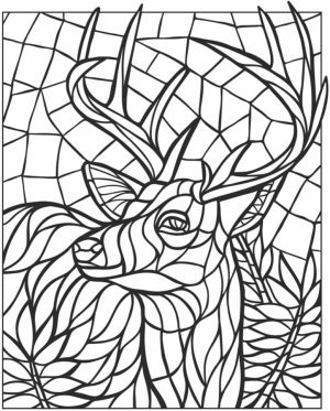 Printable Mosaic Coloring Pages Online   34394