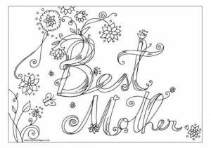 Printable Mothers Day Coloring Pages for Preschoolers   14287