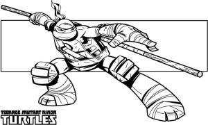Printable Ninja Turtle Coloring Page   87126