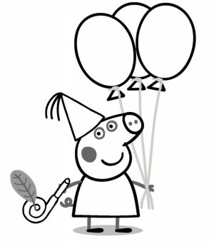 Printable Peppa Pig Coloring Pages Online   71824