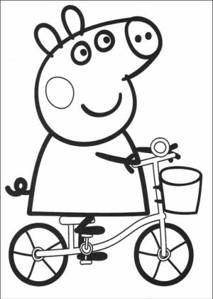 Printable Peppa Pig Coloring Pages Online   76697