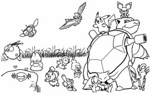 Printable Pokemon Coloring Page   52881