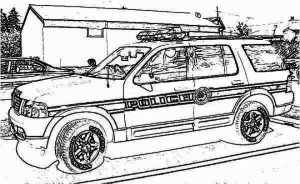 Printable Police Car Coloring Pages   01827