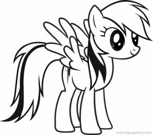 Printable Rainbow Dash Coloring Pages for Kids   5178