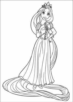 Printable Rapunzel Coloring Pages   M8GNK