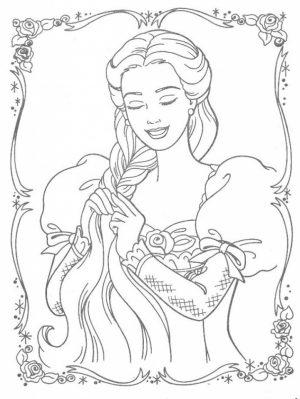 Printable Rapunzel Coloring Pages Online   HQTZH