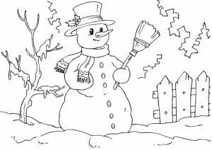 Printable Snowman Coloring Pages   29255