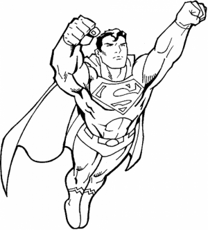 Printable Superman Coloring Pages   32236